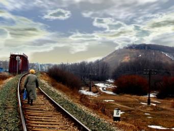 Фото со стороны железной дороги