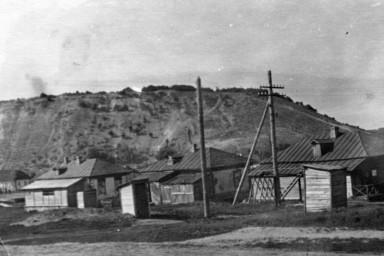 Сельские домики на фоне Лысой горы