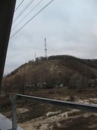 Фото Лысой горы с железнодорожного моста