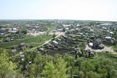 Вид на поселок с Лысой горы