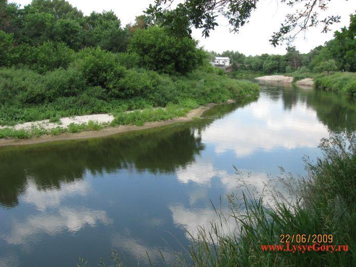 Река Медведица в районе ГЭСа